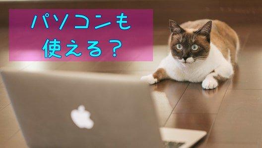 パソコンやタブレットは使える?