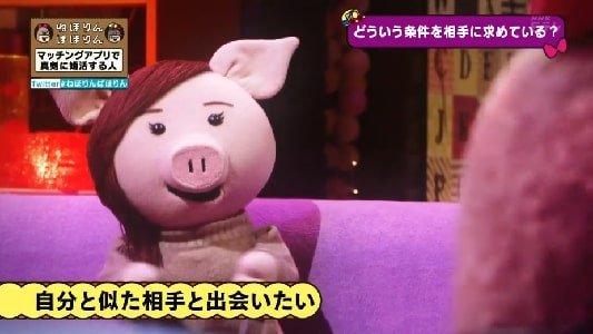 NHK・Eテレねほりんぱほりん マッチングアプリで婚活する人 アユミさんの求める人